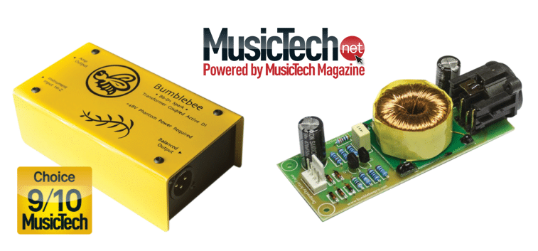MusicTech Magazine have rated the Bumblebee D1 DI as 9/10