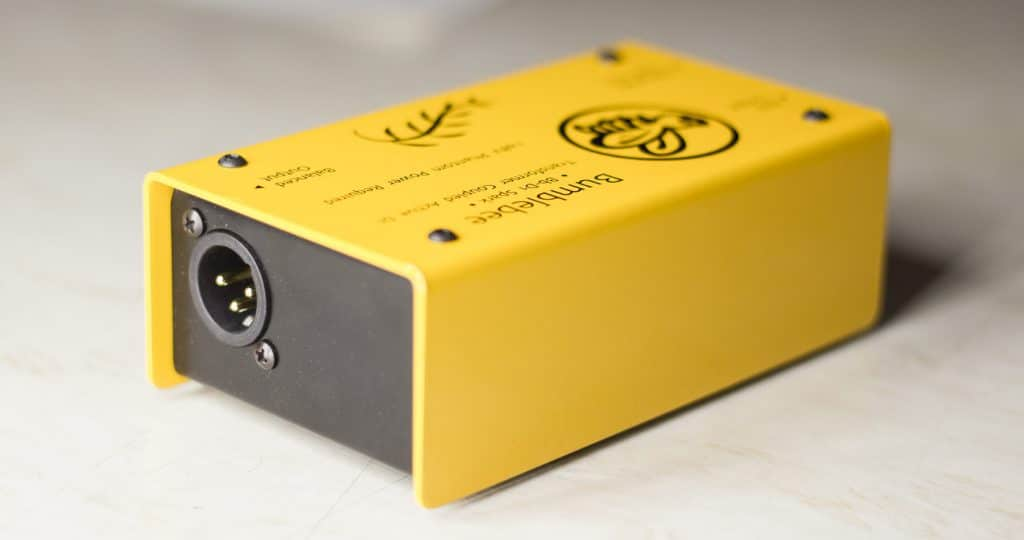 Bumblebee Active DI Box Back with Balanced XLR Out