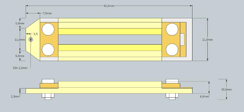 RE-254 Ribbon Mic Motor Dimensions