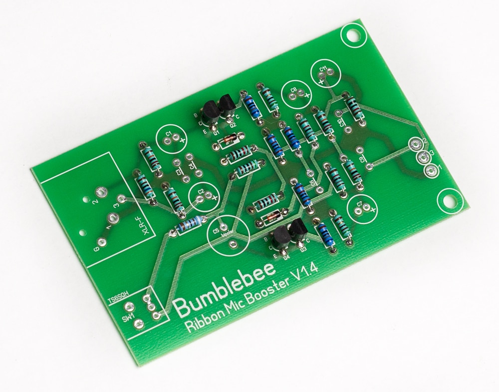 Bb-P26 Ribbon Mic Booster DIY Kit PCB