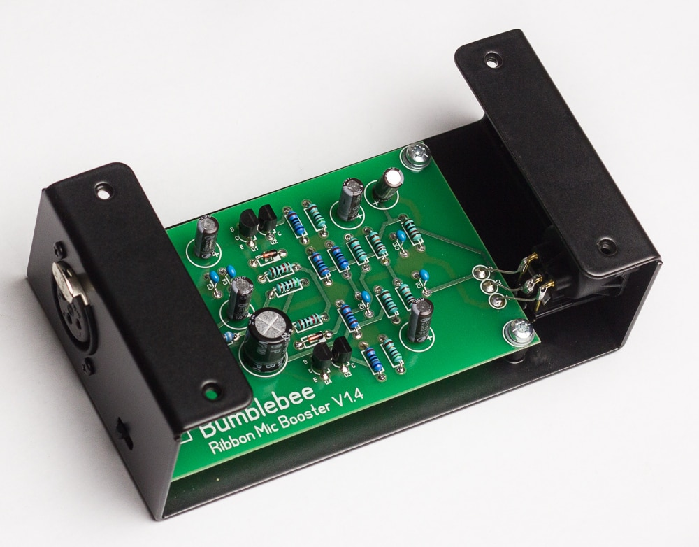 Bb-P26 Ribbon Mic Booster DIY Kit Enclosure and PCB