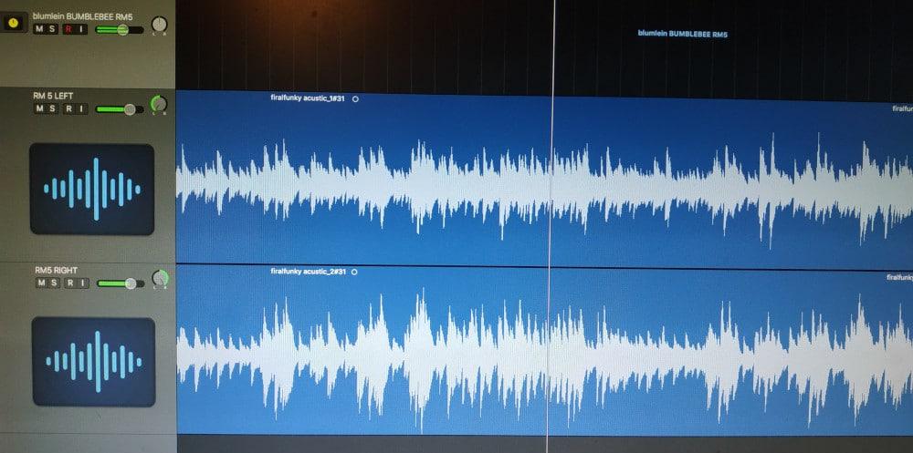 RM-5 DIY Ribbon Mic Blumlein Pair Recording Session